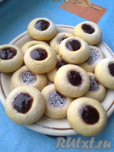Печенье с сахарной пудрой рецепт в духовке