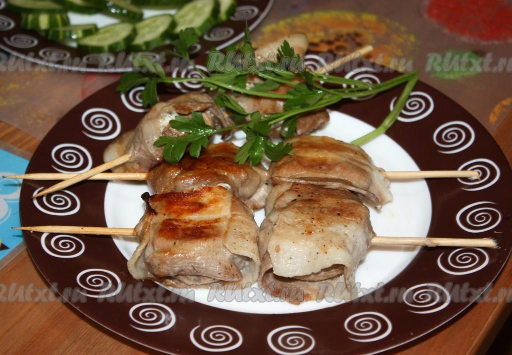 рецепт фаршированных шампиньонов в духовке целиком
