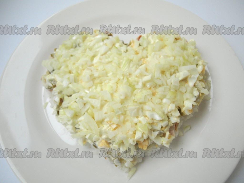 гранатовое сердце салат классический рецепт