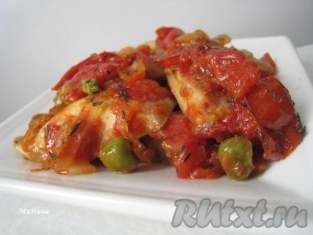 Гювеч рыба под овощами) может быть самостоятельным блюдом, а может быть подан с картофельным или рисовым гарниром.