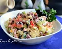 салат влажский с копченой колбасой рецепт