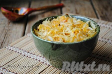 Капуста жареная на сковороде рецепт с фото пошагово в домашних