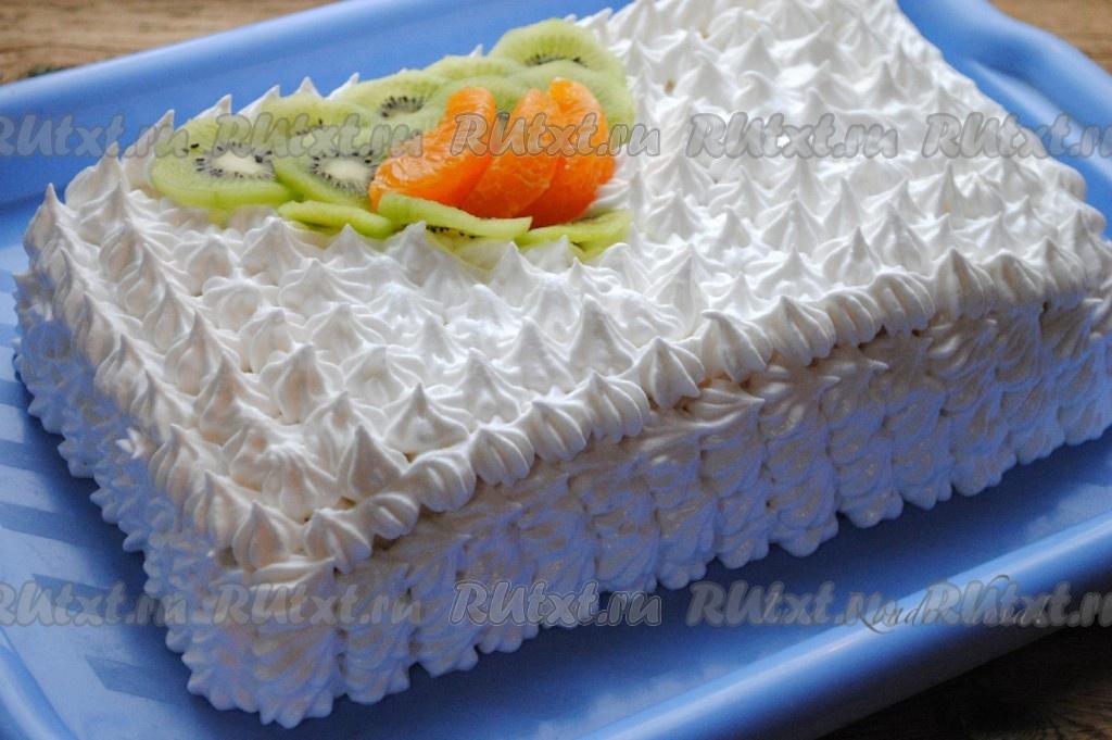 торт рыжик рецепт с фото со сметанным кремом и фруктами