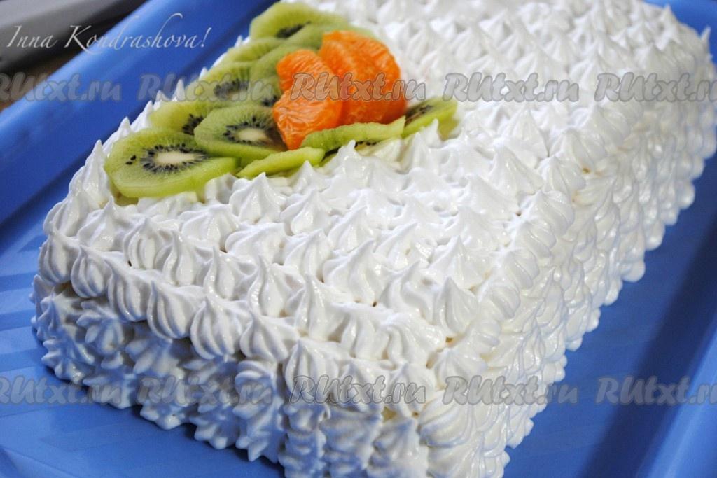 торт бисквитный со сметанным кремом рецепты с фото