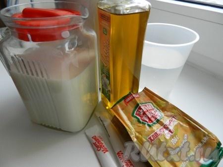 Ингредиенты для приготовления хлеба быстрой выпечки в хлебопечке