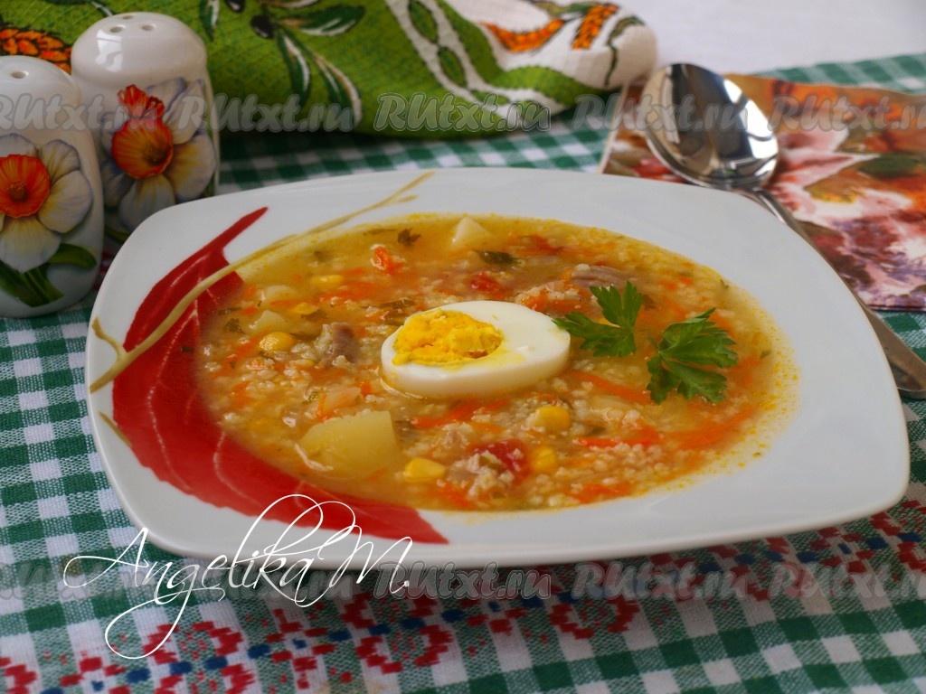 суп с пшеном со свининой рецепт с фото