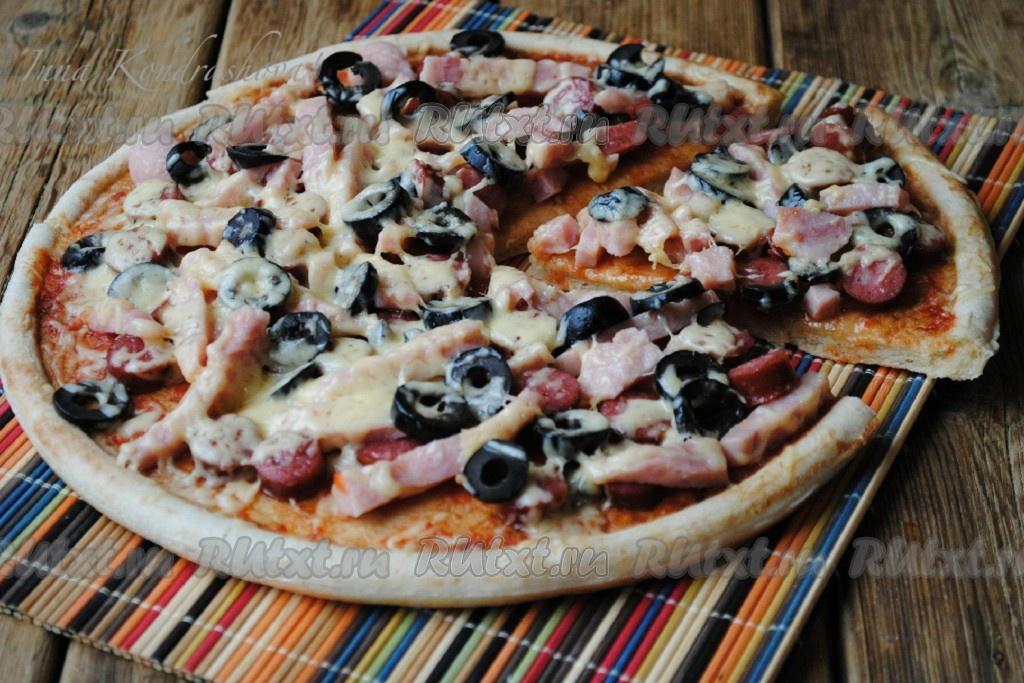 рецепт пиццы в микроволновке на готовой основе