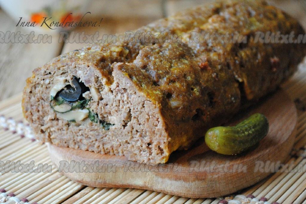 Мясной рулет с грибами рецепты простые и вкусные
