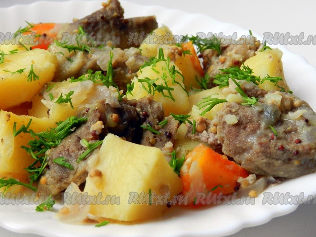 рецепт для мультиварки свинина с картошкой