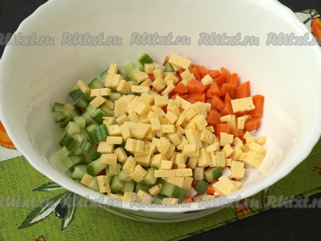 Cалат с сердцем и морковью покорейски  рецепт с фото