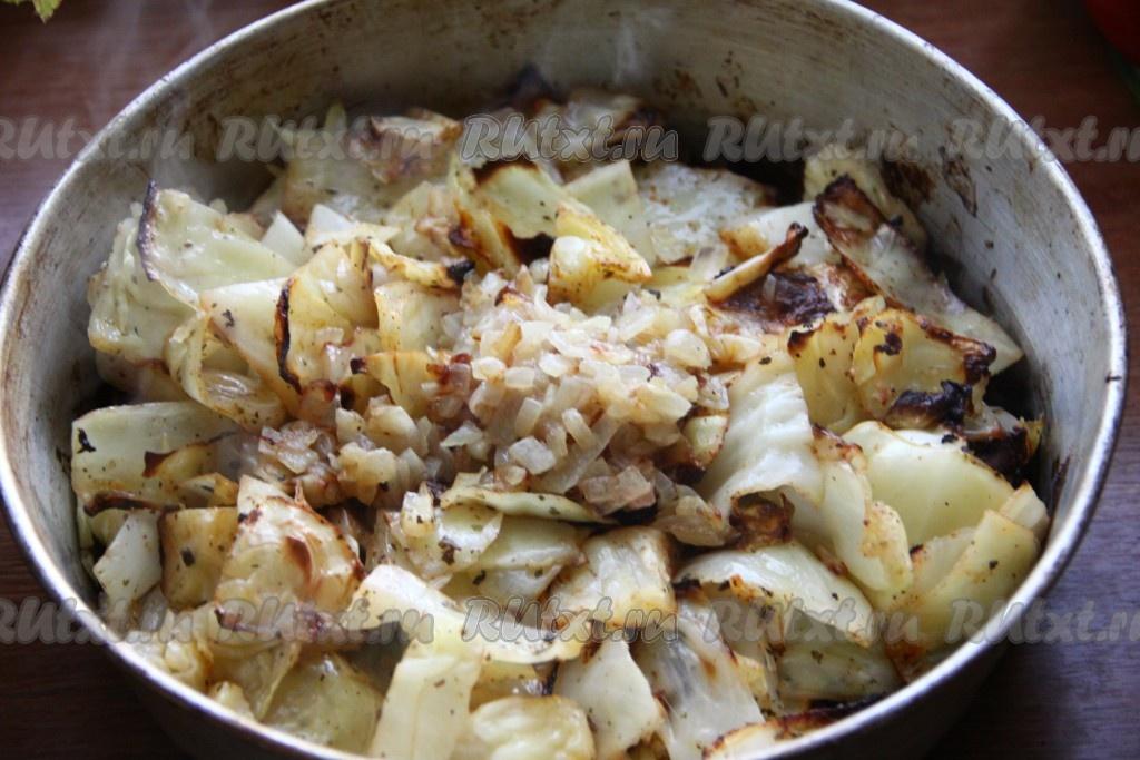 как запечь капусту