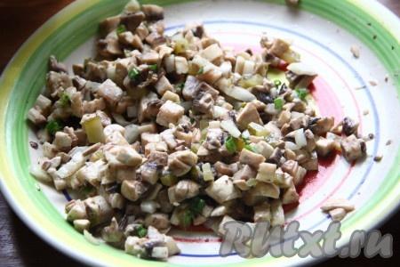 Салат сыр с грибами рецепт пошагово
