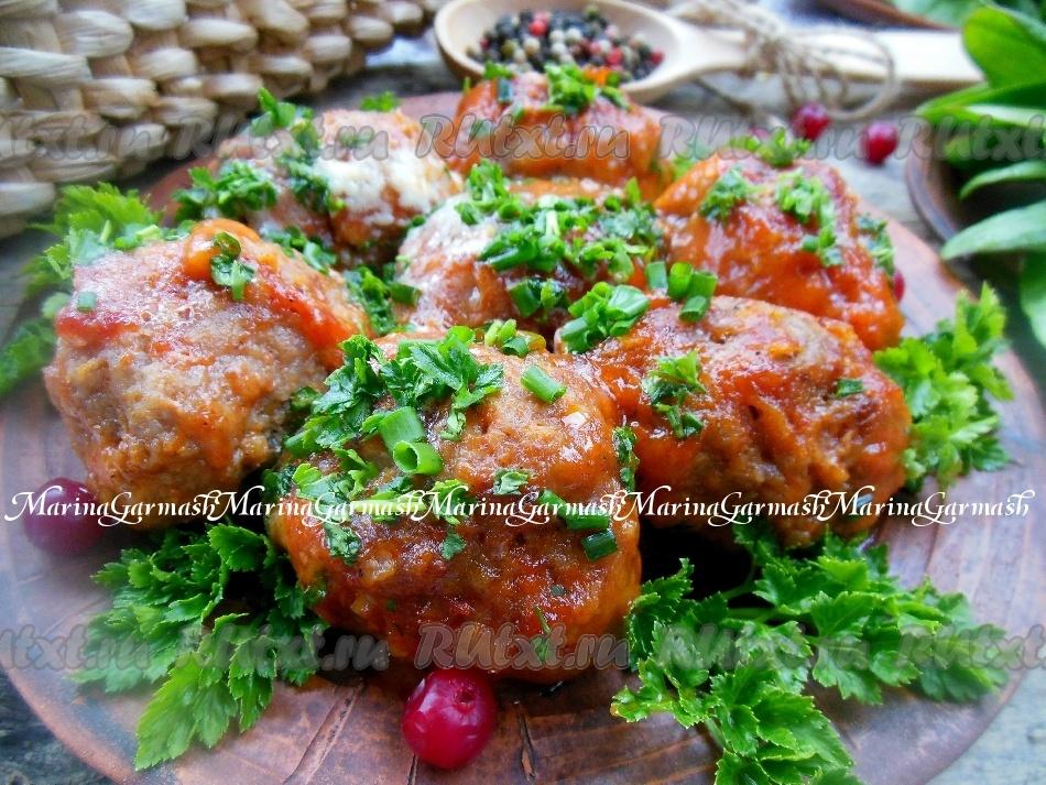 рецепт ежиков в духовке с томатным