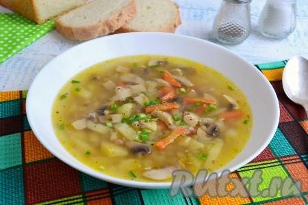 Гречневый с грибами суп рецепт