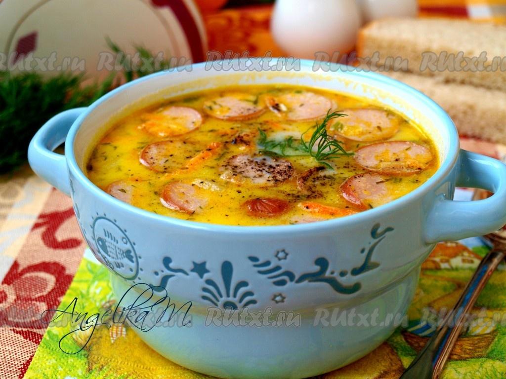 суп гороховый с сосисками