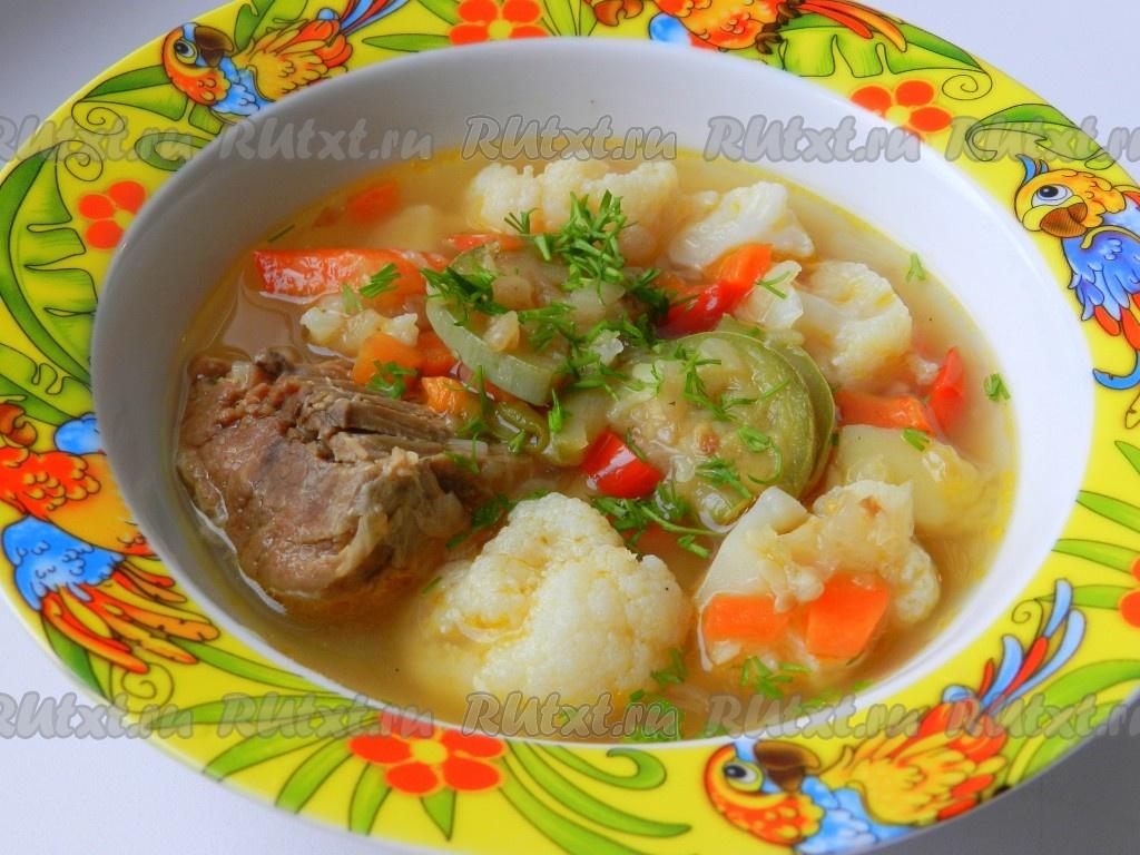 рецепт супа из говядины с цветной капустой