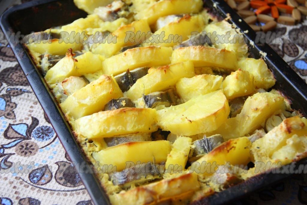 Запеченная рыба с сыром в духовке рецепт с фото пошагово в