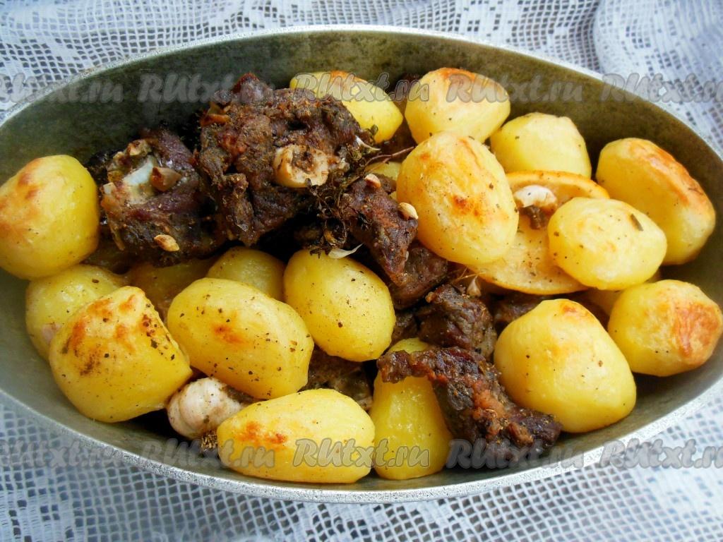 баранина рецепты приготовления в духовке с фото