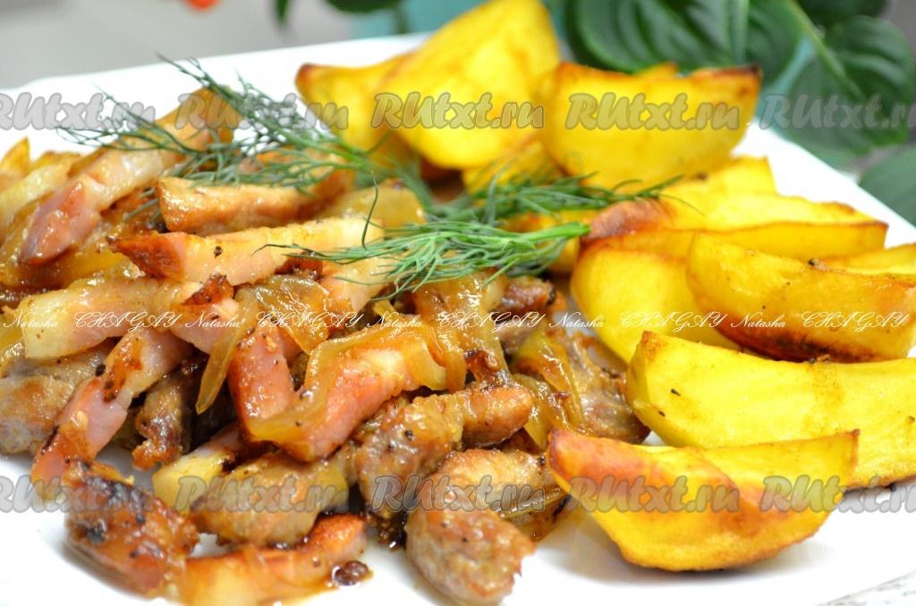 Рецепт свинины жареной кусочками