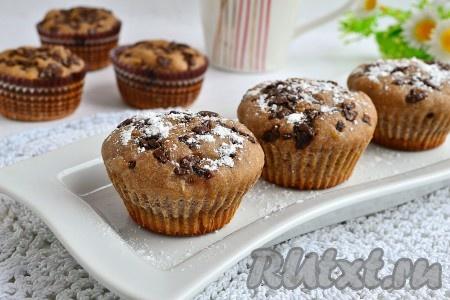Вкусные шоколадные маффины рецепт с фото