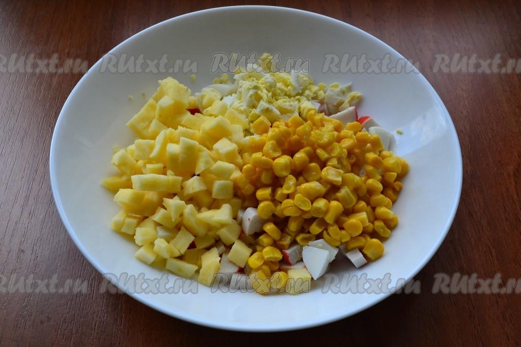 Готовим салаты с сухариками