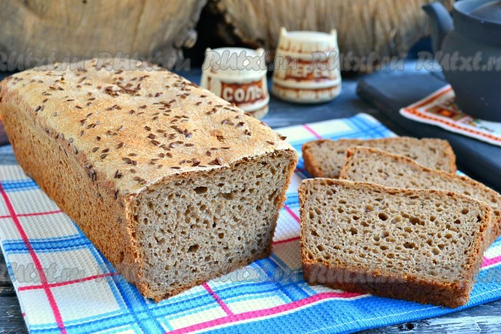 хлеб на закваске в духовке ржаной