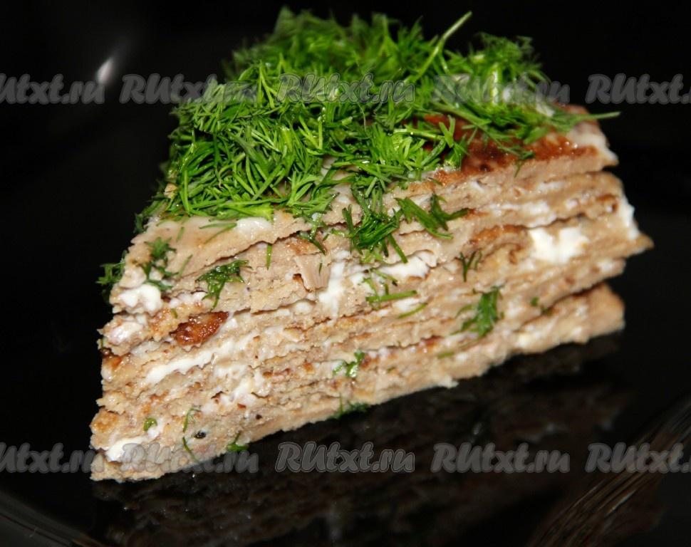 печёночный торт с куринойпечени рецепт с фото