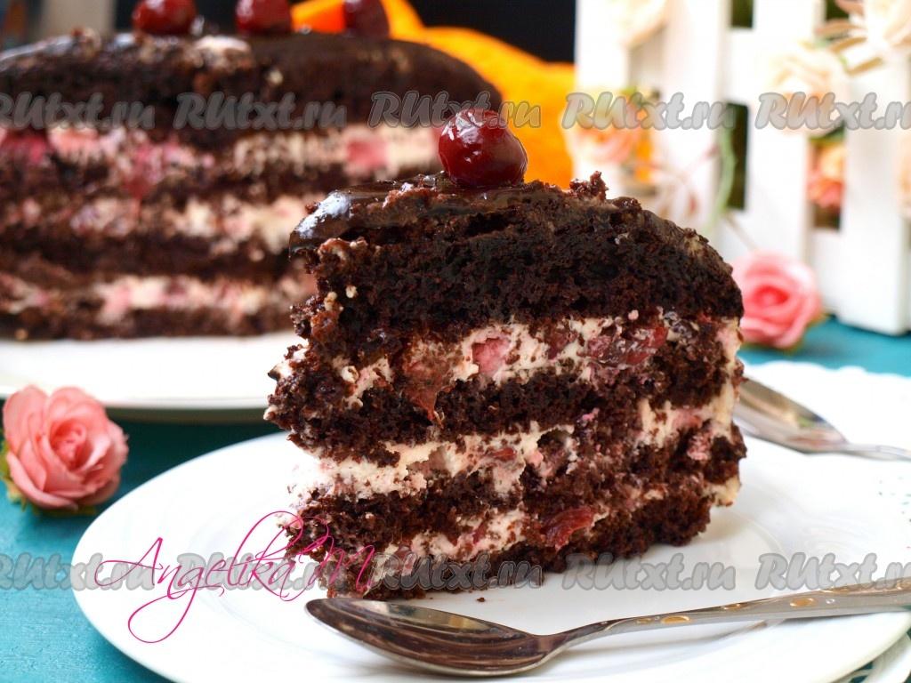 торт с вишней поделитесь рецептом