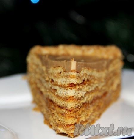 Медовый торт со сгущенкой.