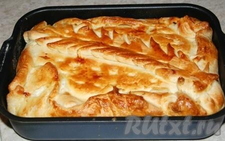 Пирог с луком пореем