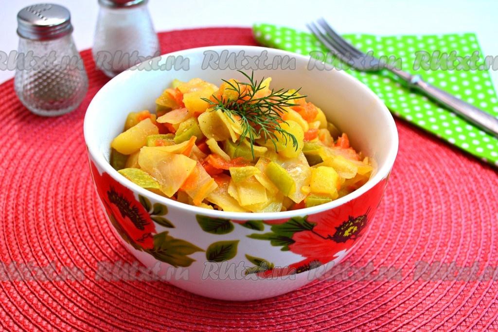 Овощное Рагу В Мультиварке Рецепт