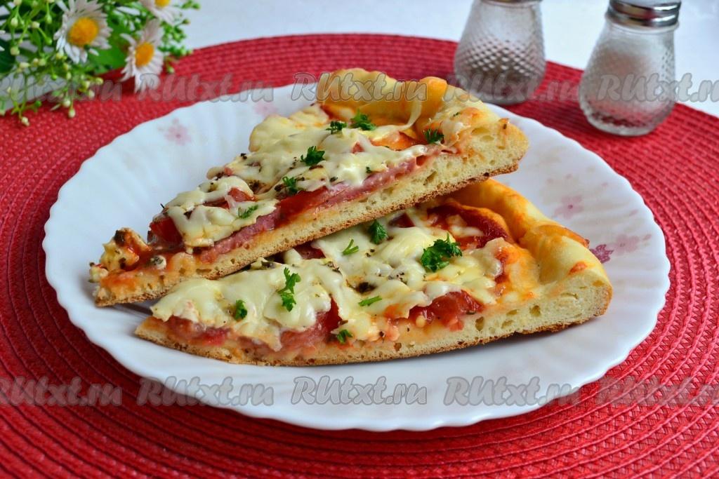 рецепт лёгкой пиццы в духовке