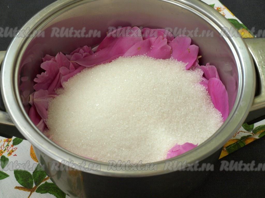 как приготовить варенье из цветков пиона