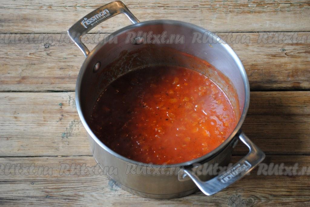 Как сделать подливу из томатной пасты с мясом 509