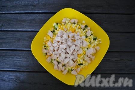 Окрошка с куриным филе на кефире - рецепт пошаговый с фото