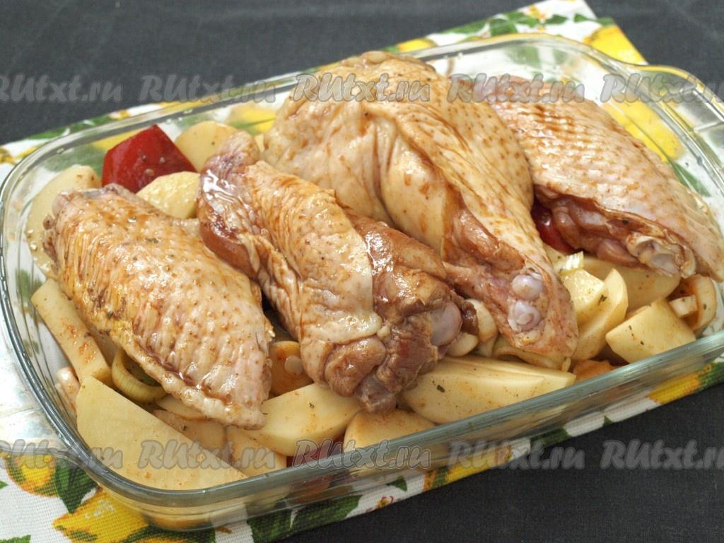 запеченные крылья индейки в духовке