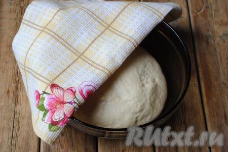 Тесто накрыть полотенцем и отправить в тёплое место на 1 час.