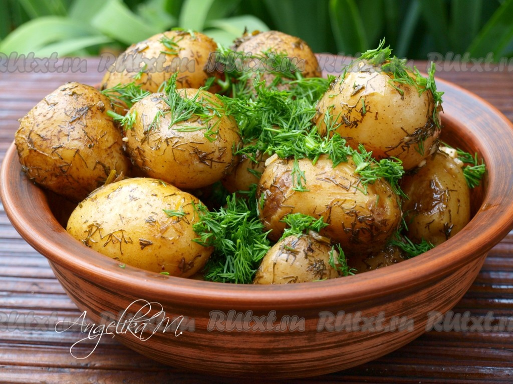 Как приготовить картошку с кроликом в рукаве