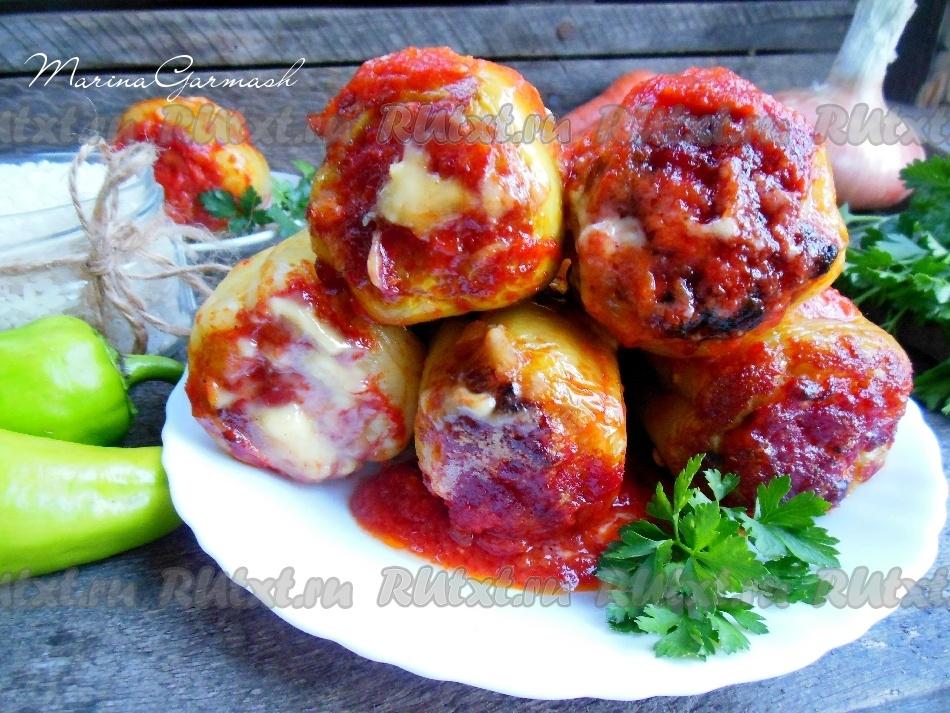 Баклажаны кабачки с мясом запеченные в духовке