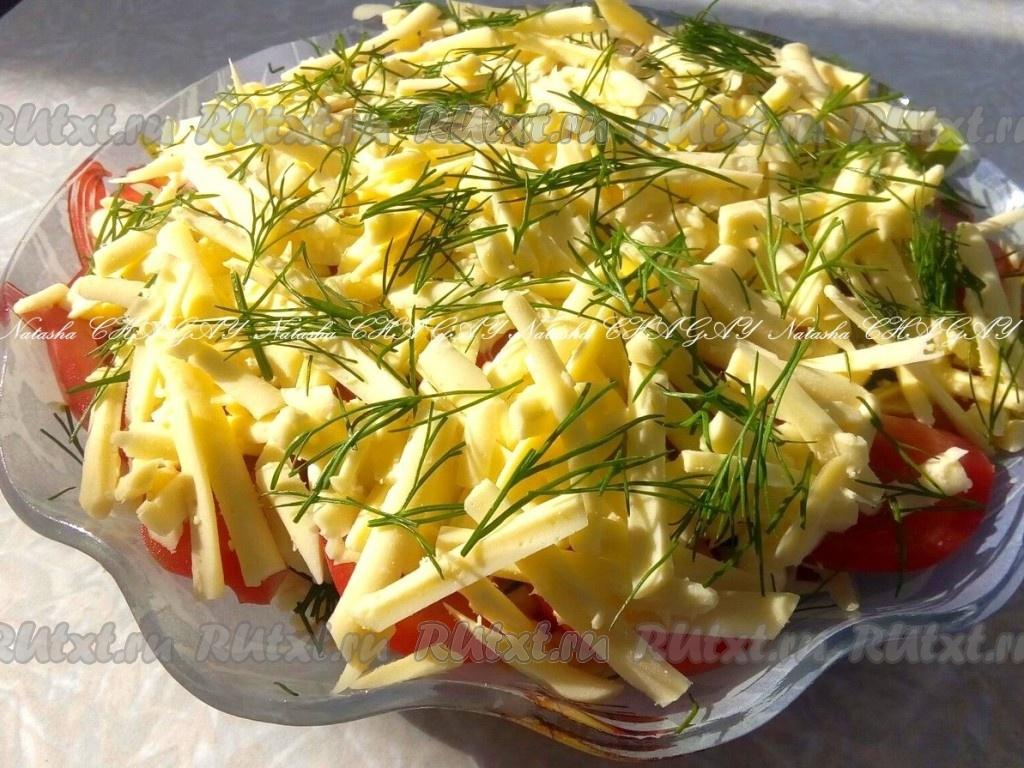 Салат с помидорами, курицей и сыром - рецепт с фото легкий салат с курицей