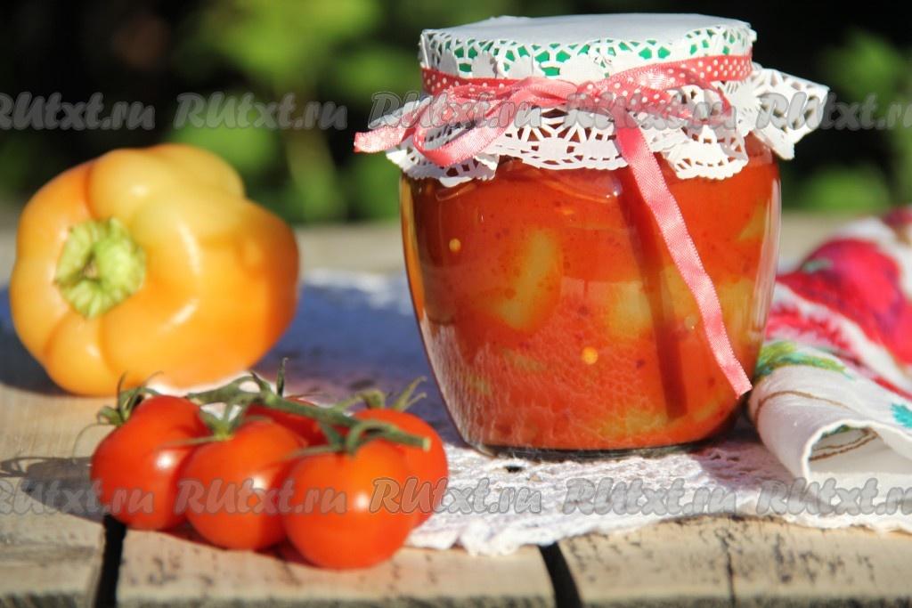 перец с томатной пастой на зиму рецепты с фото