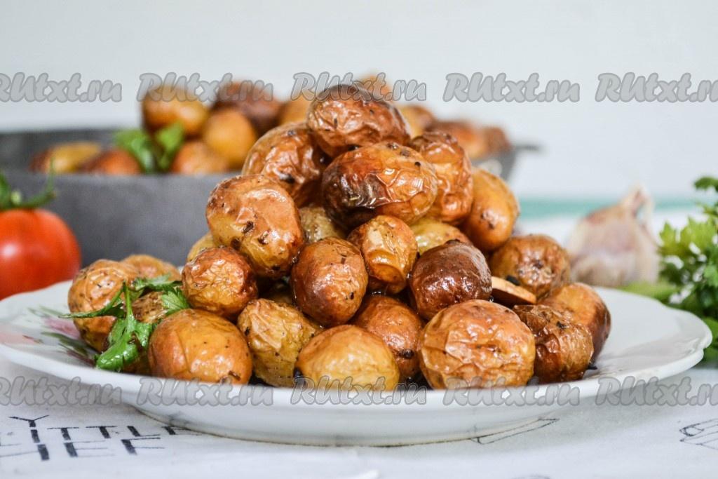 Сколько запекается картофель в духовке в пакете — 1
