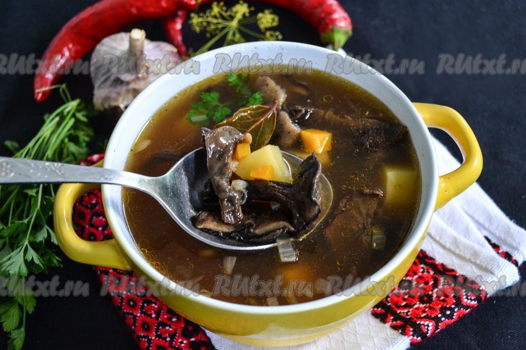 рецепт суп с сушеными грибами в мультиварке