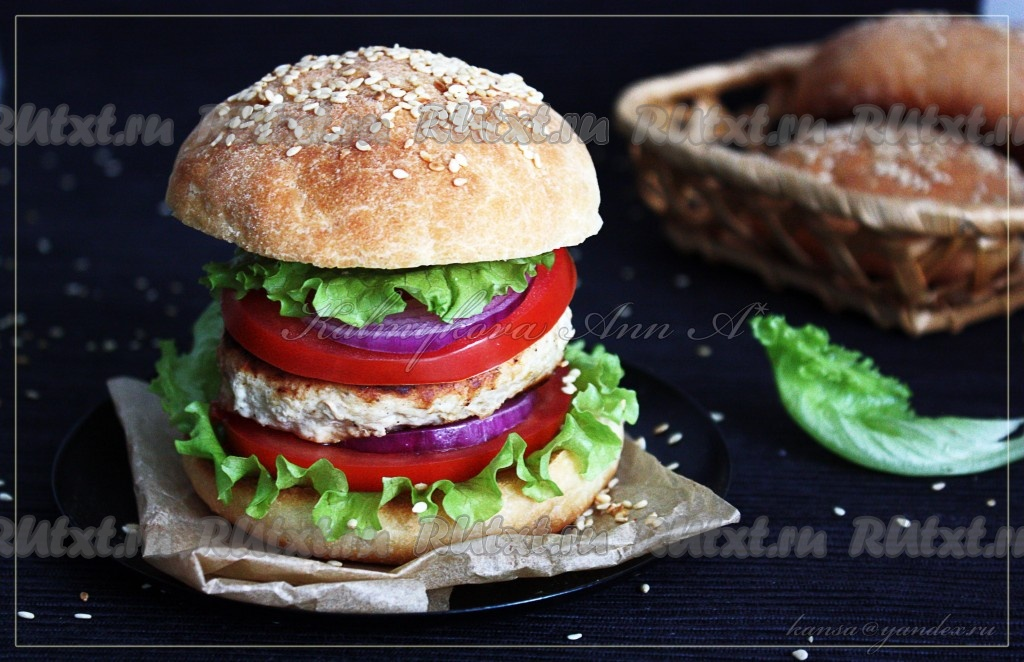 Гамбургер в домашних условиях с котлетой 202