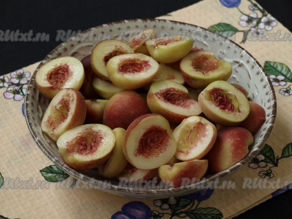 компот из персика без косточки