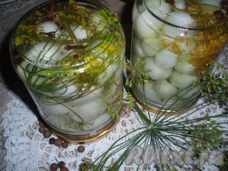 Маринованный лук на зиму рецепт