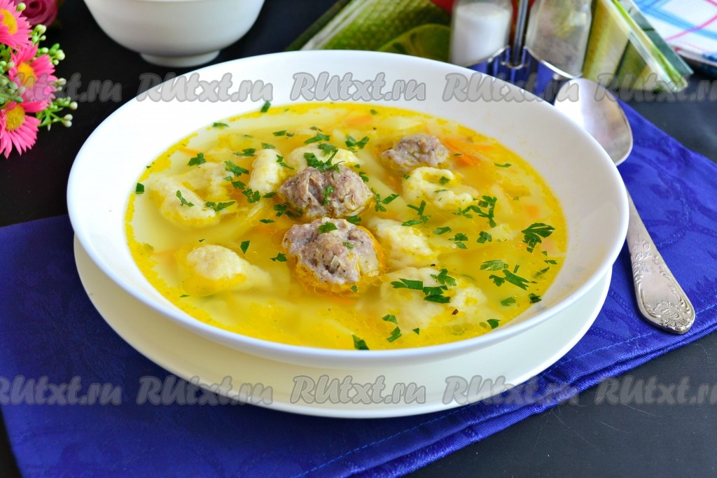 как приготовить суп с фрикадельками шампиньонами в мультиварке
