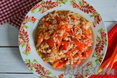 Тушеные перцы с фаршем рецепт