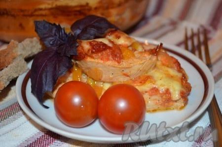 Куриное филе с помидорами соусеы