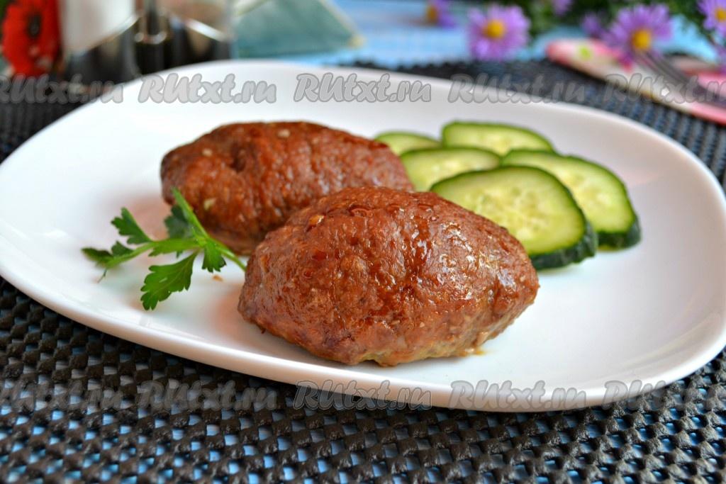 котлеты из свинины и говядины сочные в духовке рецепт